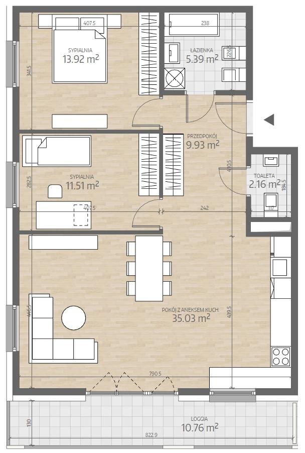 wizualizacja mieszkania numer 42