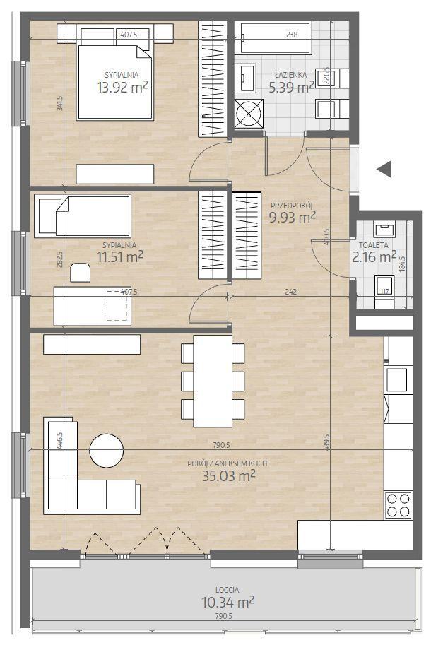 wizualizacja mieszkania numer 78