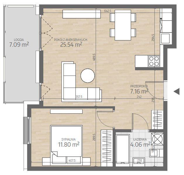 wizualizacja mieszkania numer 89