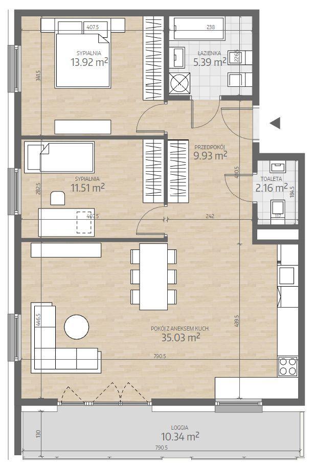 wizualizacja mieszkania numer 96