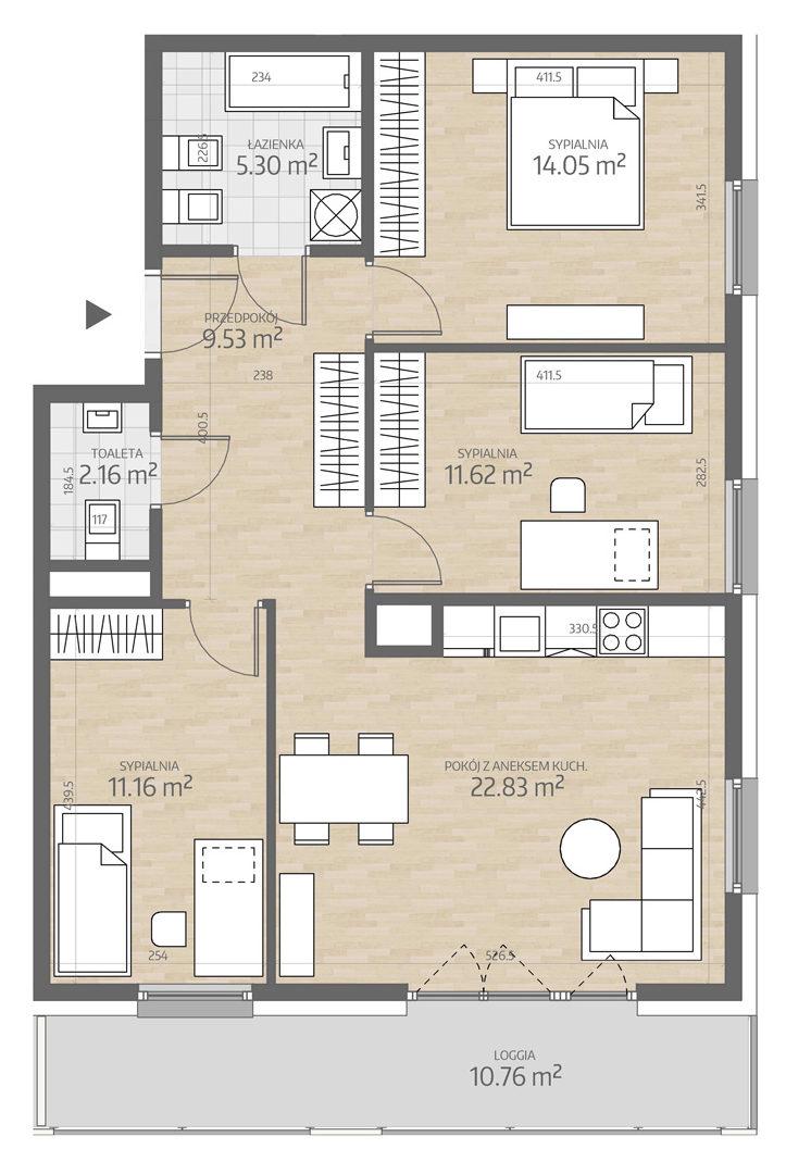 rzut mieszkania numer 30