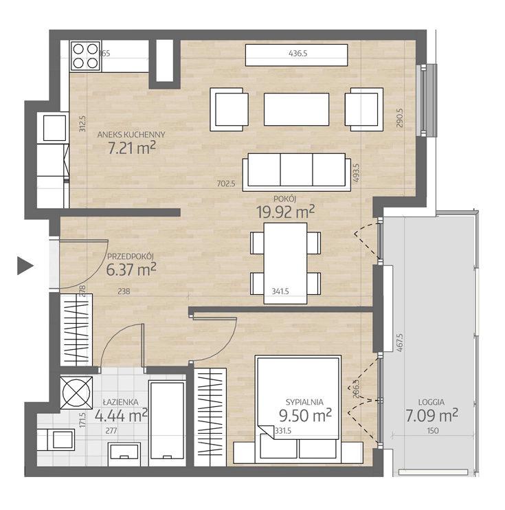 rzut mieszkania numer 93