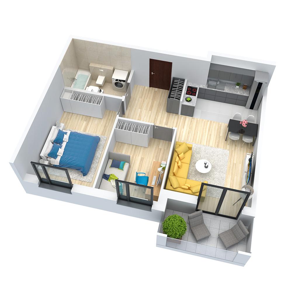 wizualizacja mieszkania numer 38