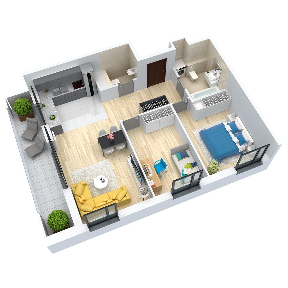 wizualizacja mieszkania numer 84
