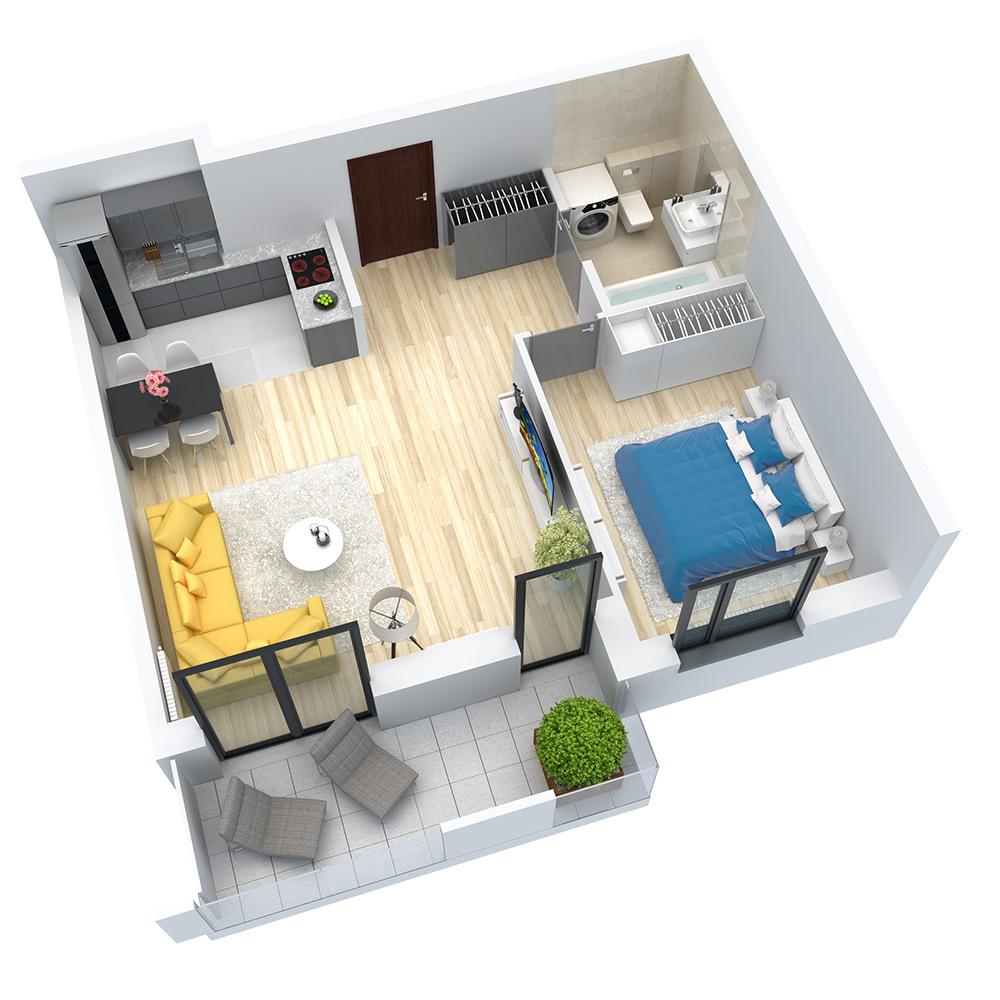 wizualizacja mieszkania numer 88