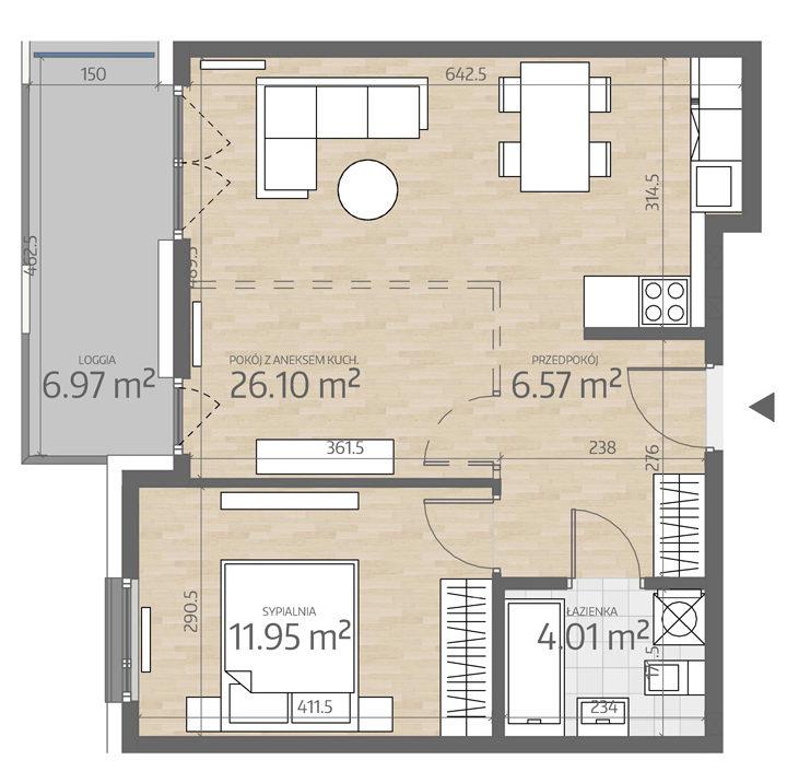 rzut mieszkania numer 79