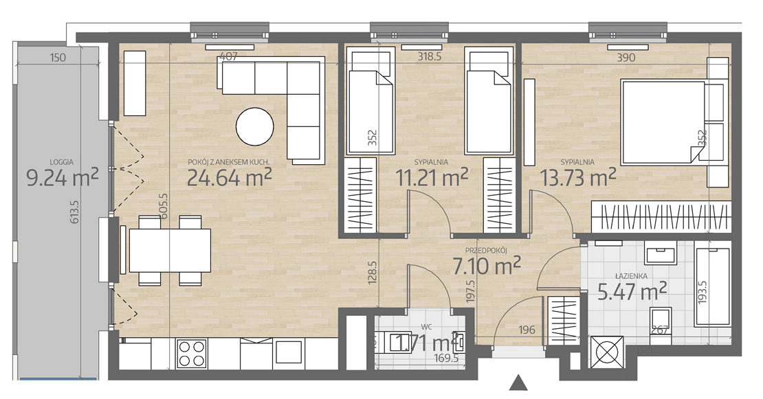 rzut mieszkania numer 80