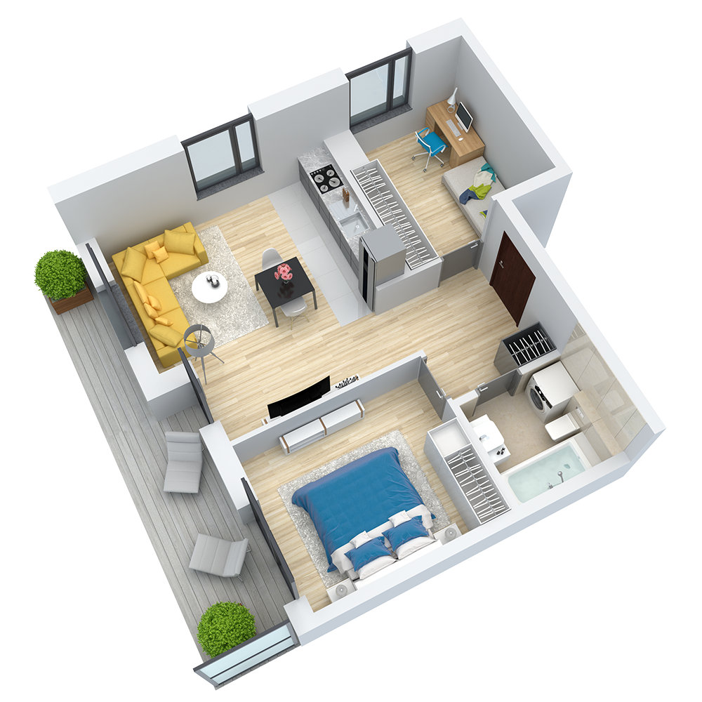 wizualizacja mieszkania numer 2