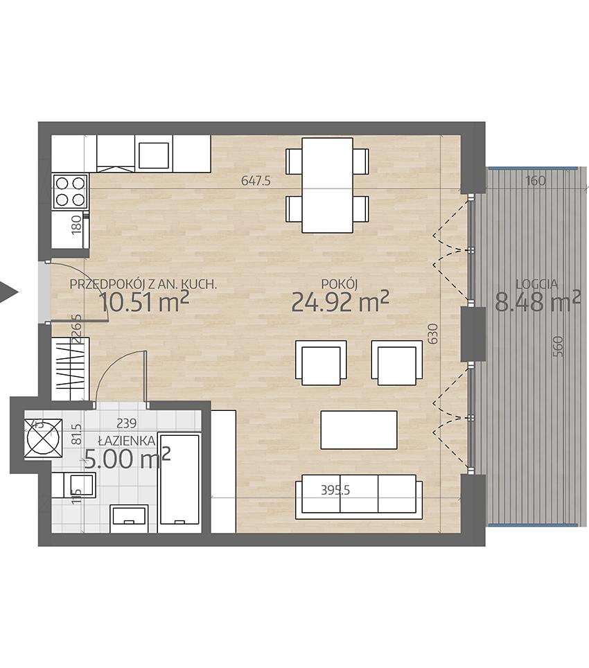 rzut mieszkania numer 4
