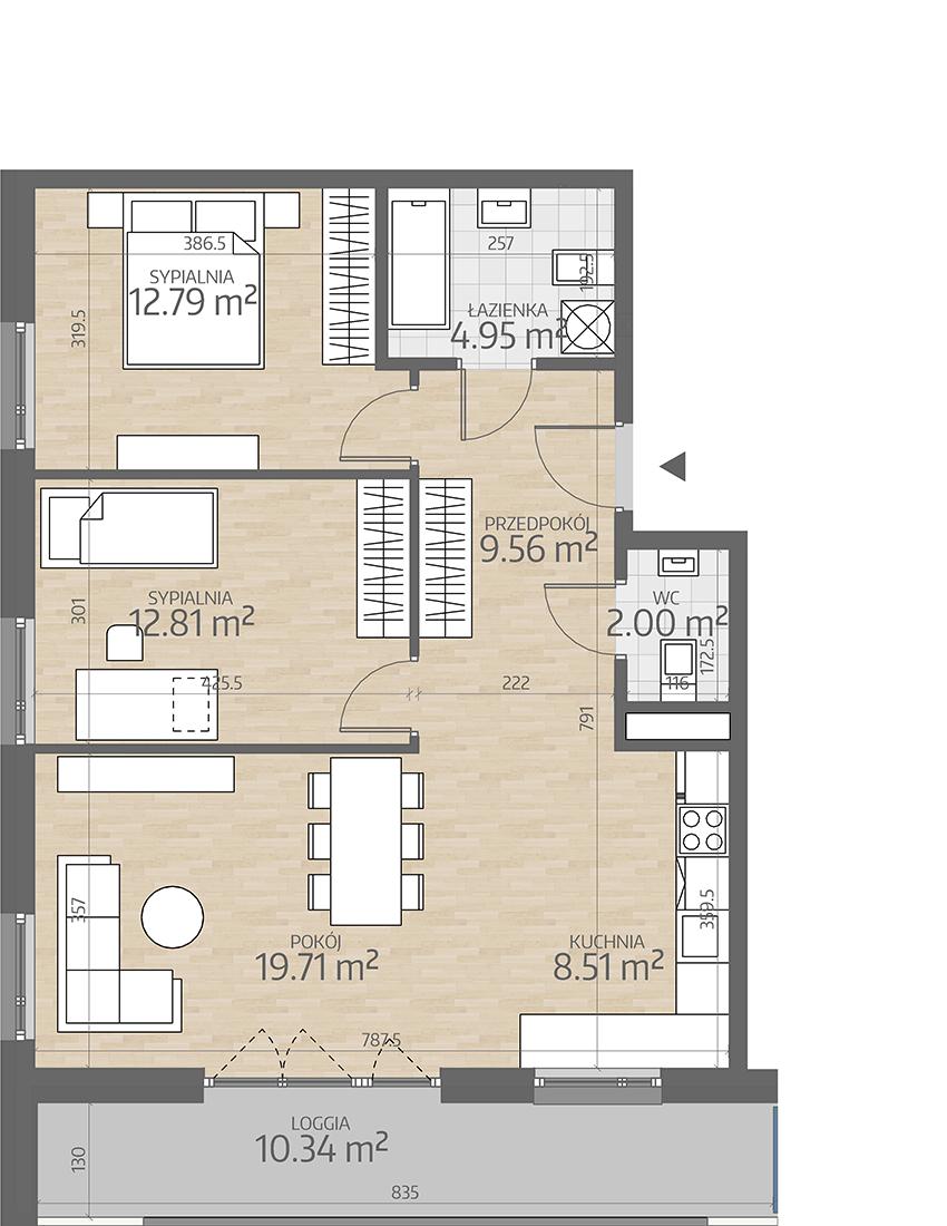 rzut mieszkania numer 10