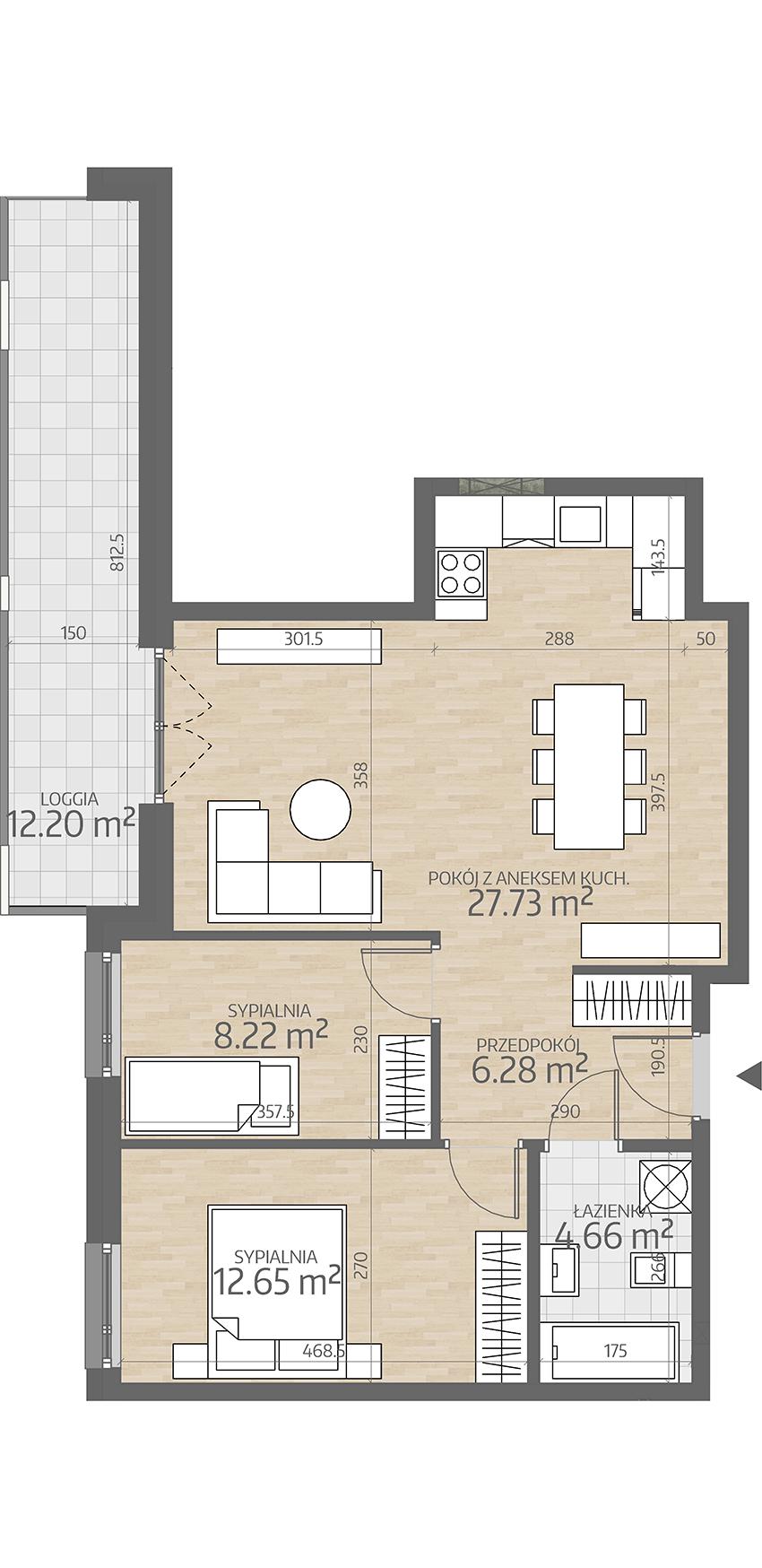 rzut mieszkania numer 11