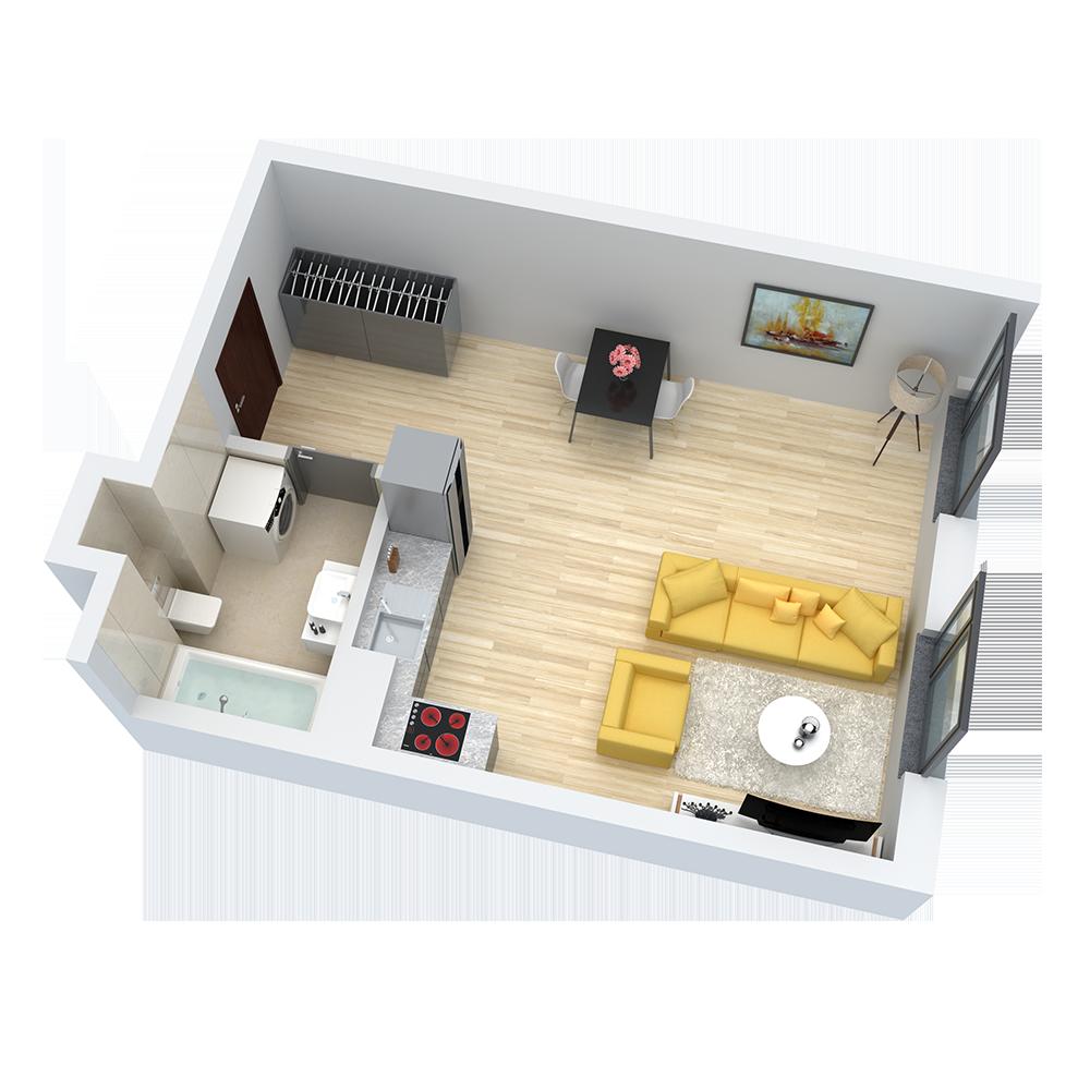 wizualizacja mieszkania numer 19