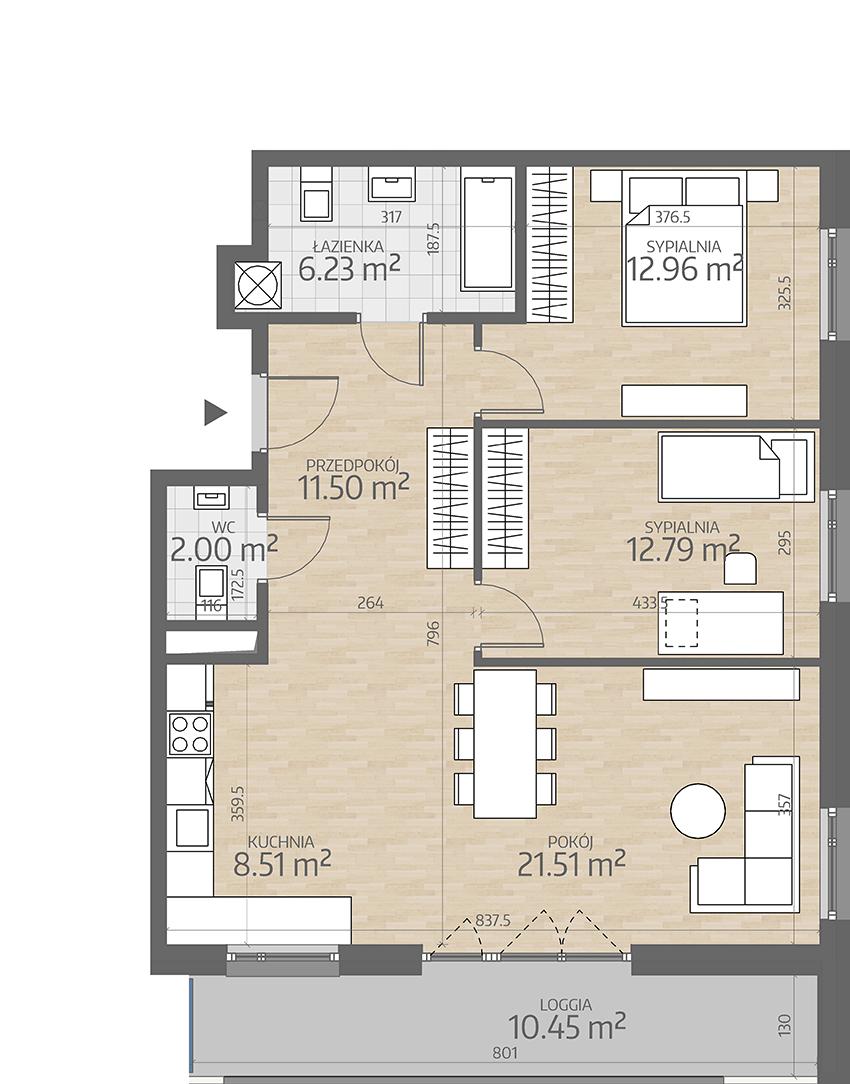 rzut mieszkania numer 20