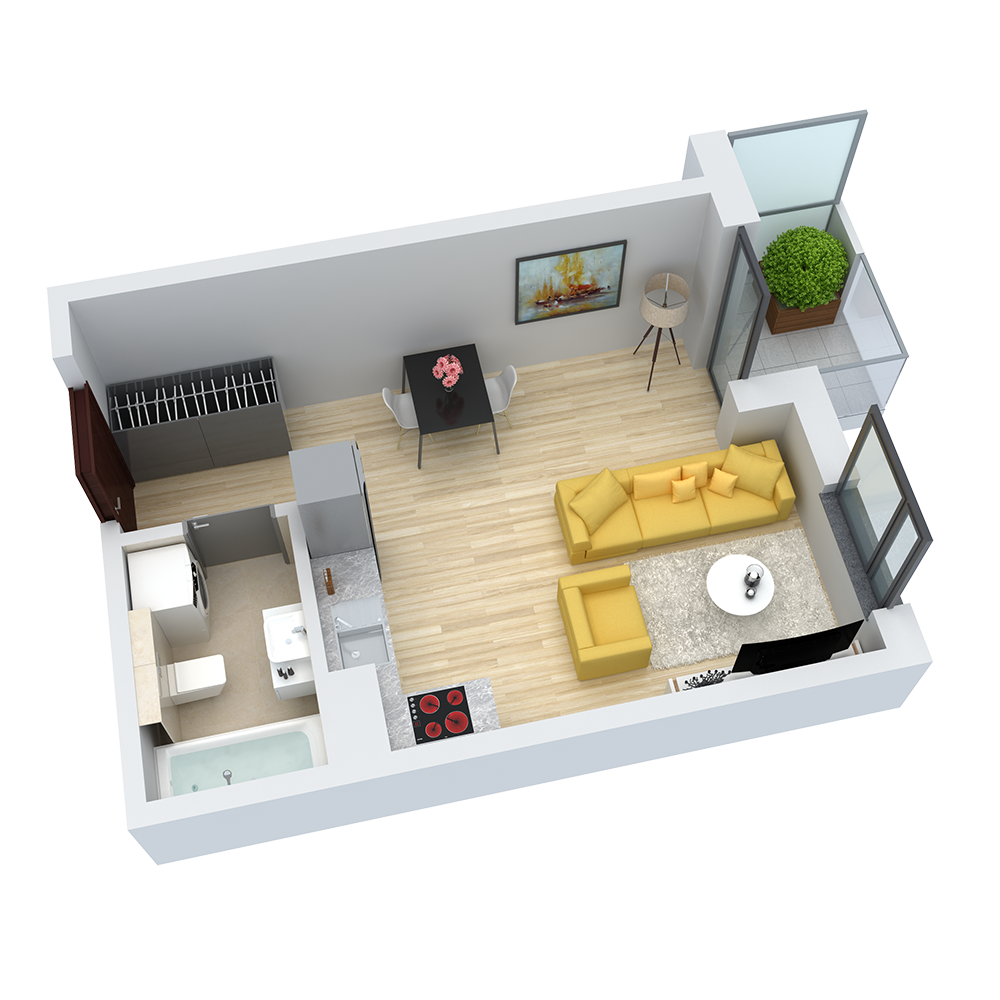wizualizacja mieszkania numer 27