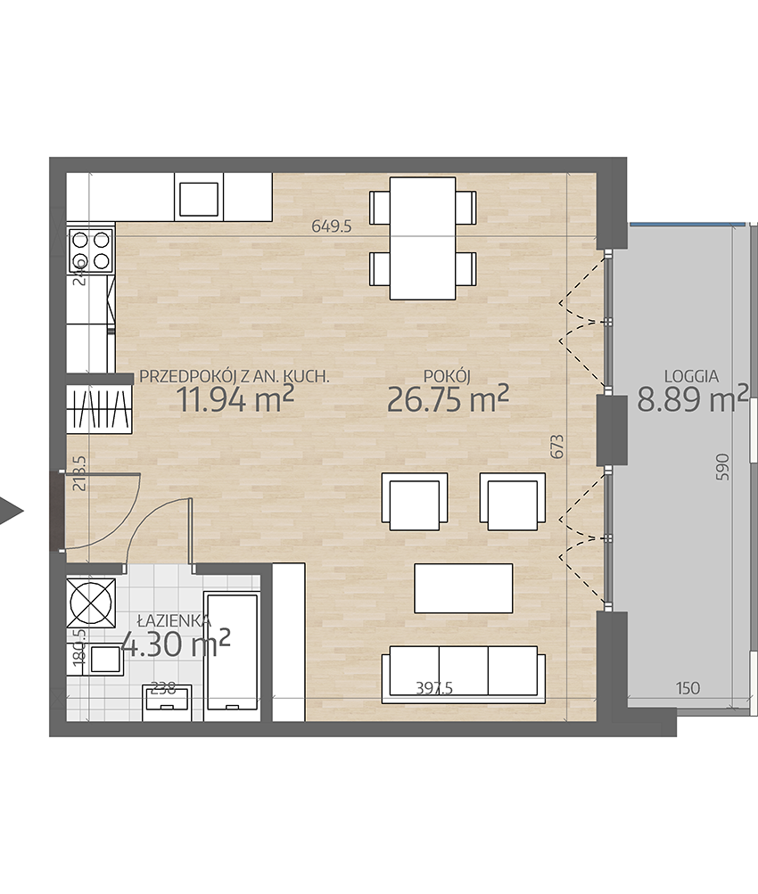 rzut mieszkania numer 29