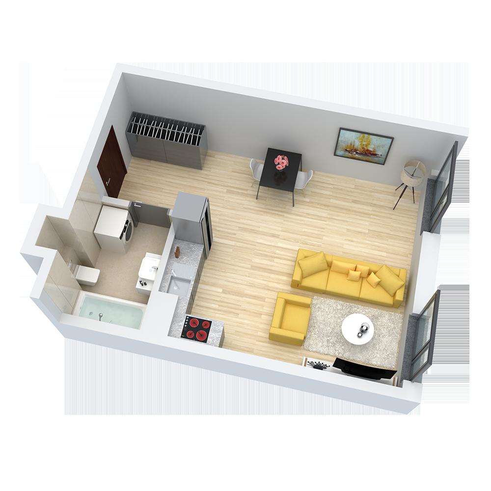 wizualizacja mieszkania numer 30