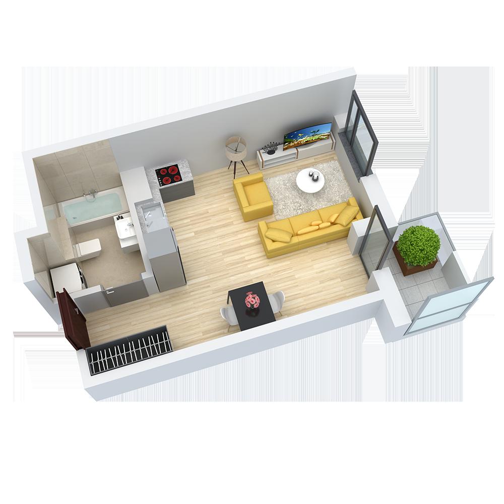 wizualizacja mieszkania numer 39