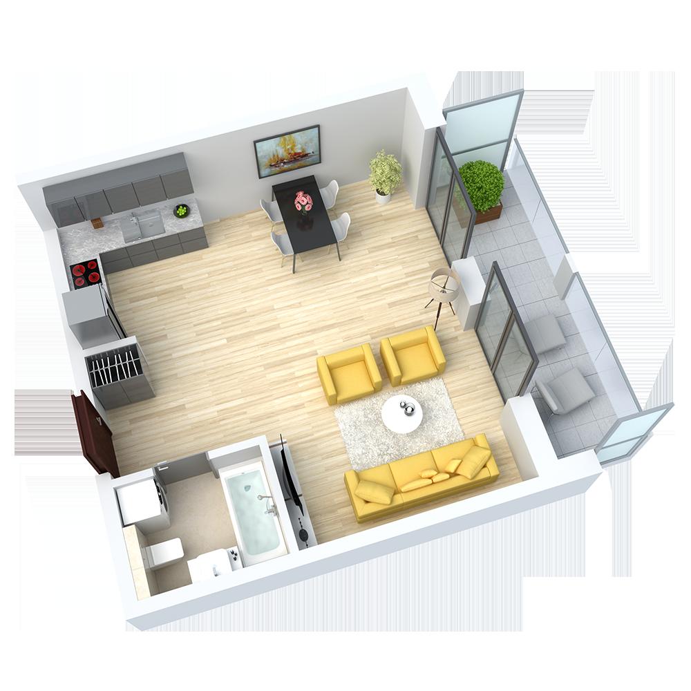 wizualizacja mieszkania numer 40
