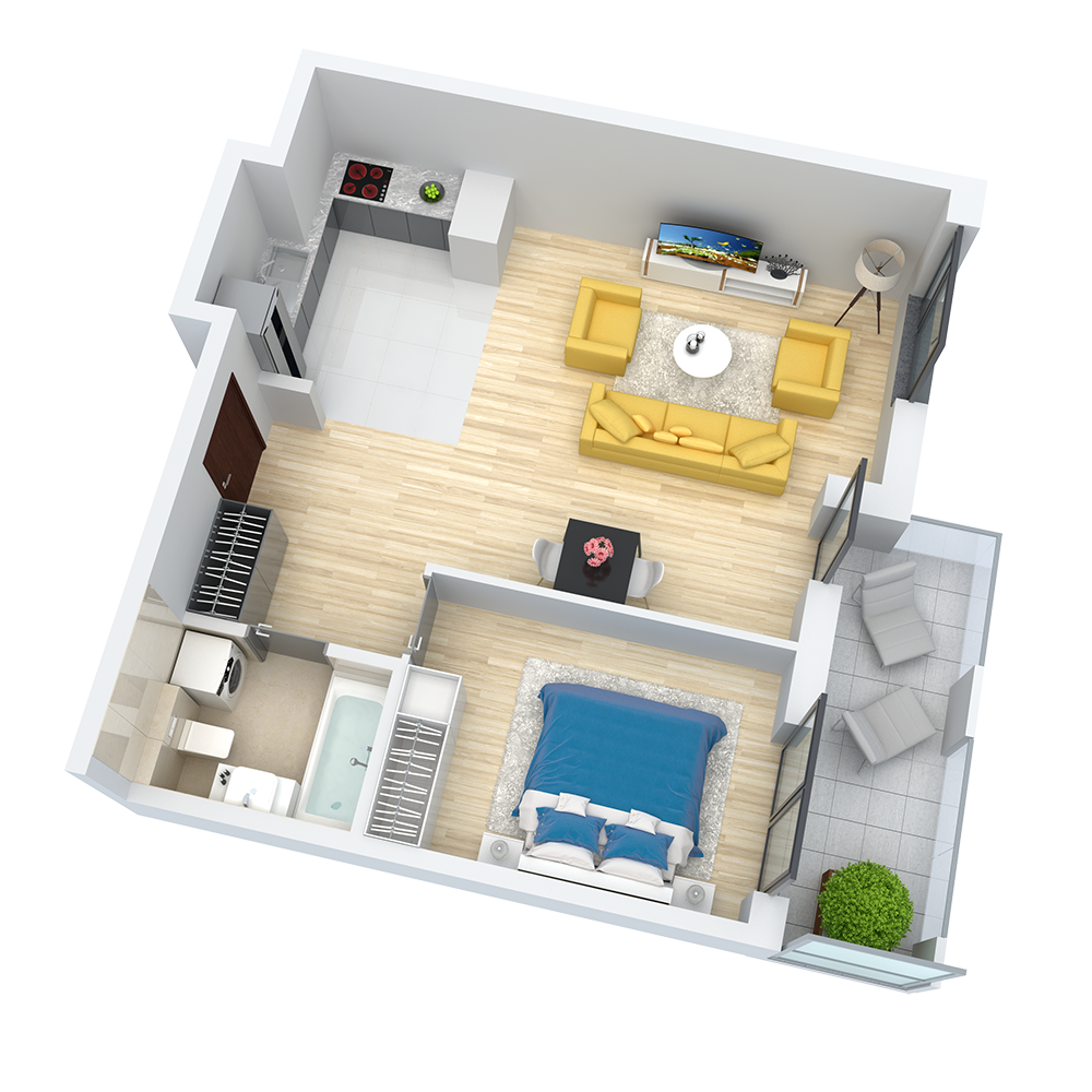 wizualizacja mieszkania numer 76