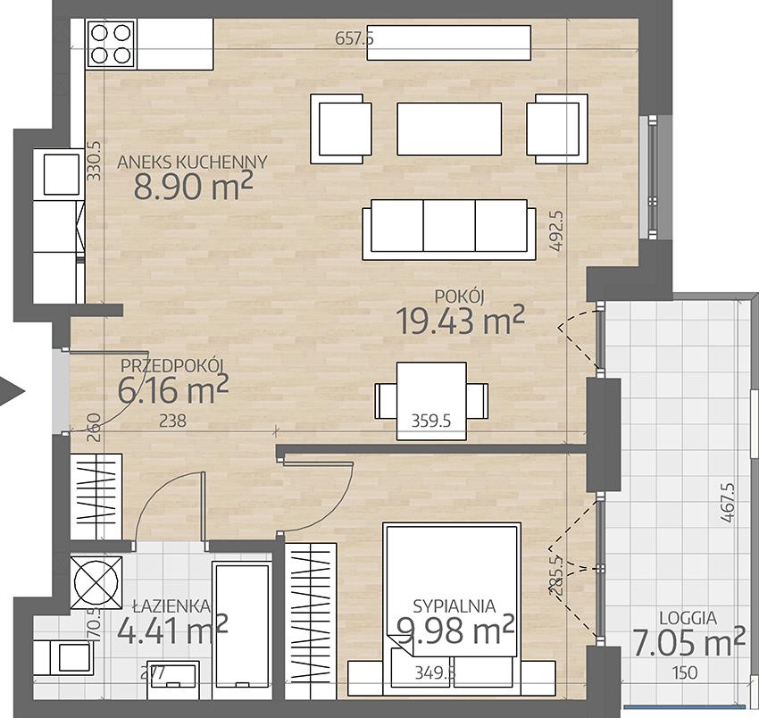 rzut mieszkania numer 5
