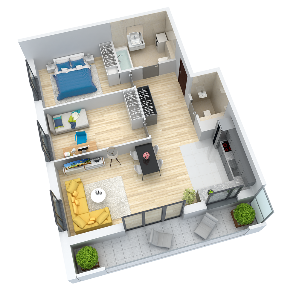 wizualizacja mieszkania numer 8