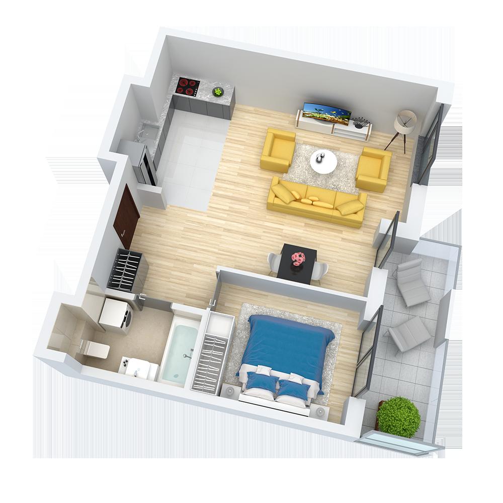 wizualizacja mieszkania numer 32