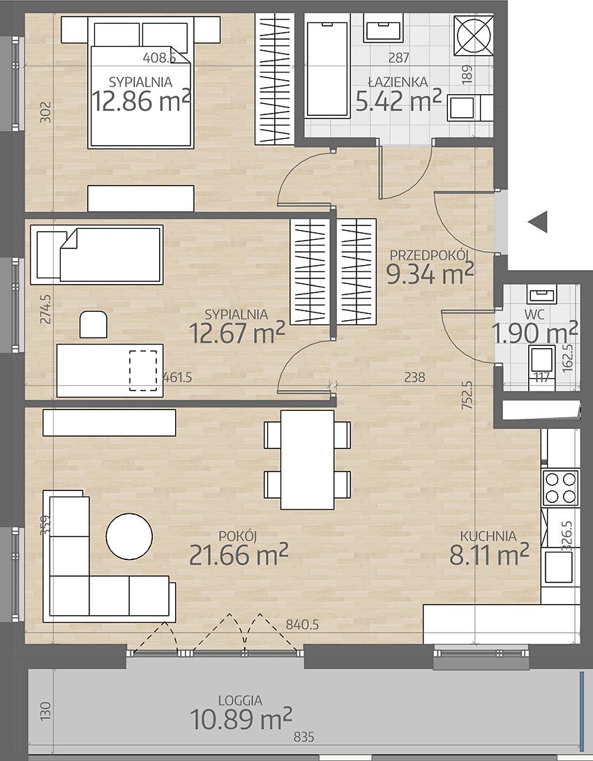 rzut mieszkania numer 35