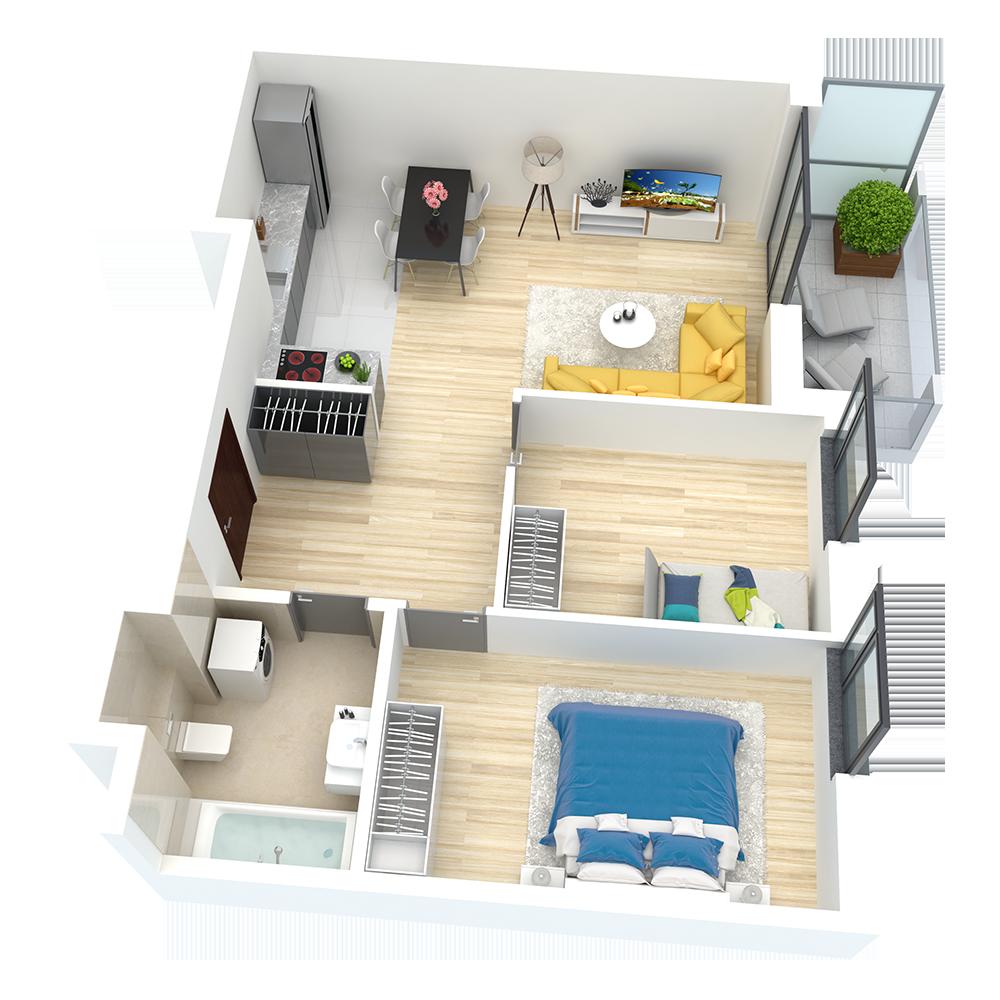 wizualizacja mieszkania numer 51