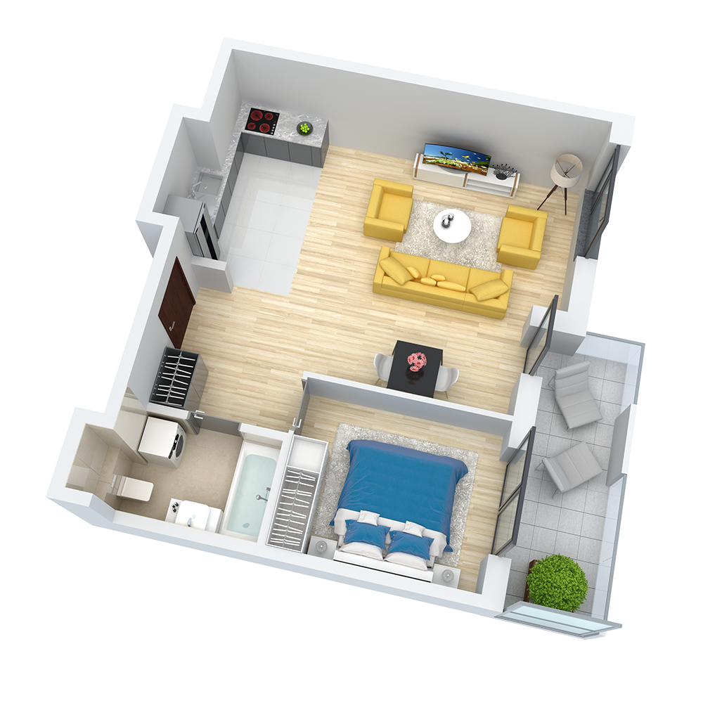 wizualizacja mieszkania numer 86